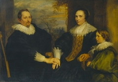 Sebastiaan Leerse with his wife and son