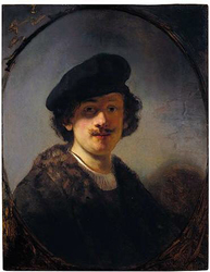 Self-portrait with shaded eyes