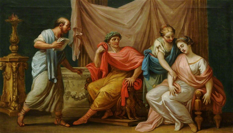 Socrates drinking the Hemlock
