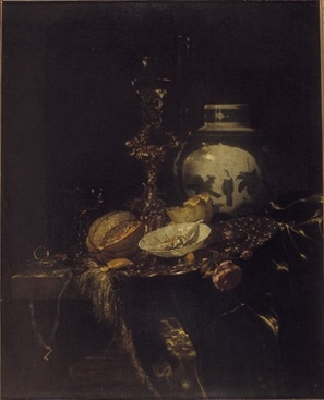 Still Life with Bekerschroef, Rummer and Covered Porcelain Pot