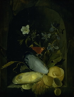 Still Life with Cockleshells and Blue Anemones