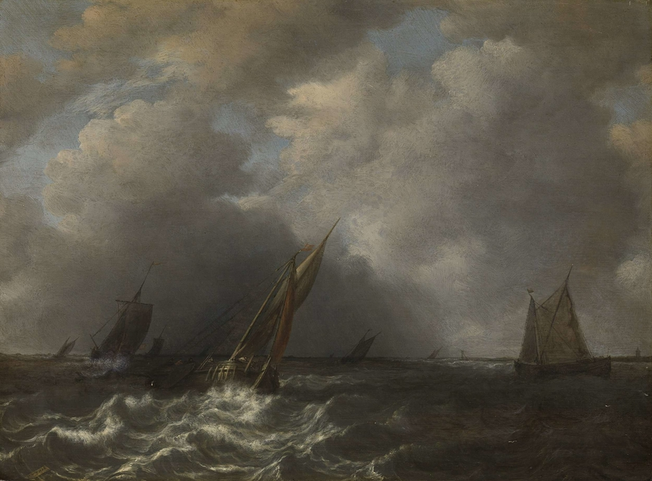 Storm on the Meuse River