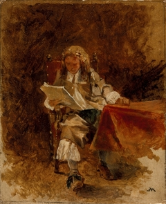 Study of a Seated Cavalier Reading