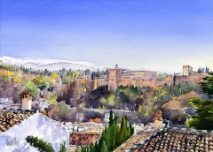 The Alhambra, Granada and the Sierra Nevada