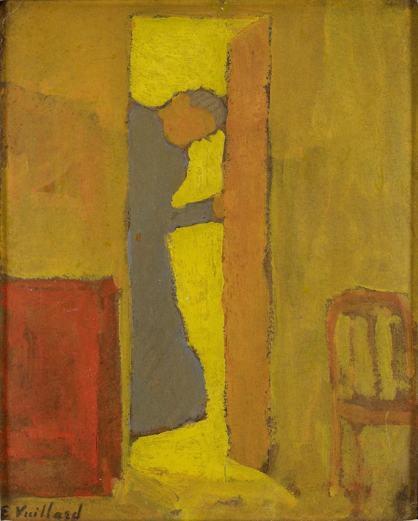 The Artist's Mother Opening a Door