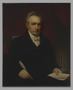 The Honorable Roger Minnot Sherman  (1773-1844), B. A. 1792, M. A. 1795, LL.D. 1829, (copy after his earlier portrait of1840)