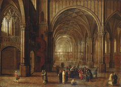 The Interior of a Church: the Woman taken in Adultery