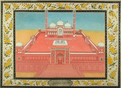 The Jami' Masjid in Delhi From an album of Sir Eyre Coote, British Commander in Chief