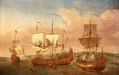 The 'Peregrine' and other royal yachts off Greenwich, circa 1710