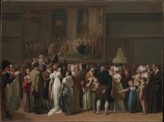 "The Public Viewing David's ""Coronation"" at the Louvre"