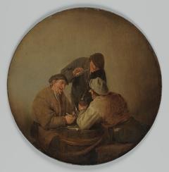 Three Peasants Drinking and Smoking