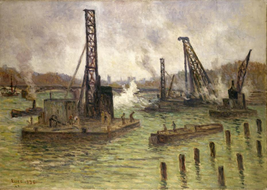 Travaux sur la Seine, au pont des Saints-Pères