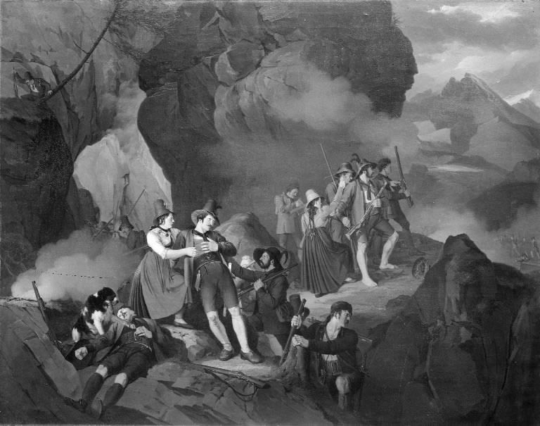 Tyrolese Fighting the French in the Mountains