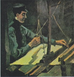 Weaver at the loom - (View to right)