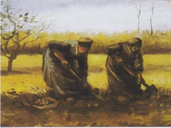 Two Peasant women, digging potatoes