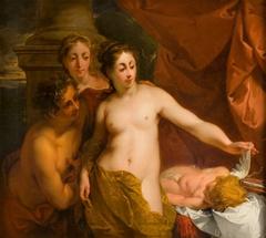 Venus, Bacchus en Ceres met slapende Amor
