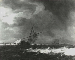 Vessels in choppy seas