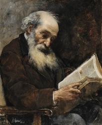 Viejo leyendo un libro