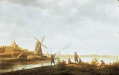 View of Dordrecht with the Rietdijkse Poort