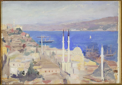 View of the port in Constantinople. From the journey to Constantinople