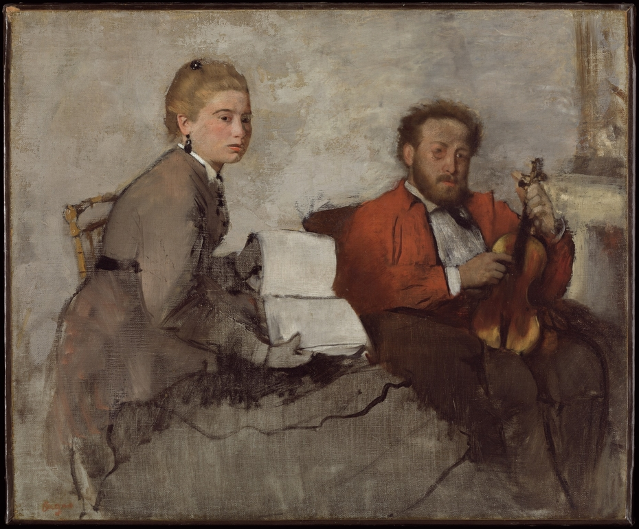 Violinist and Young Woman