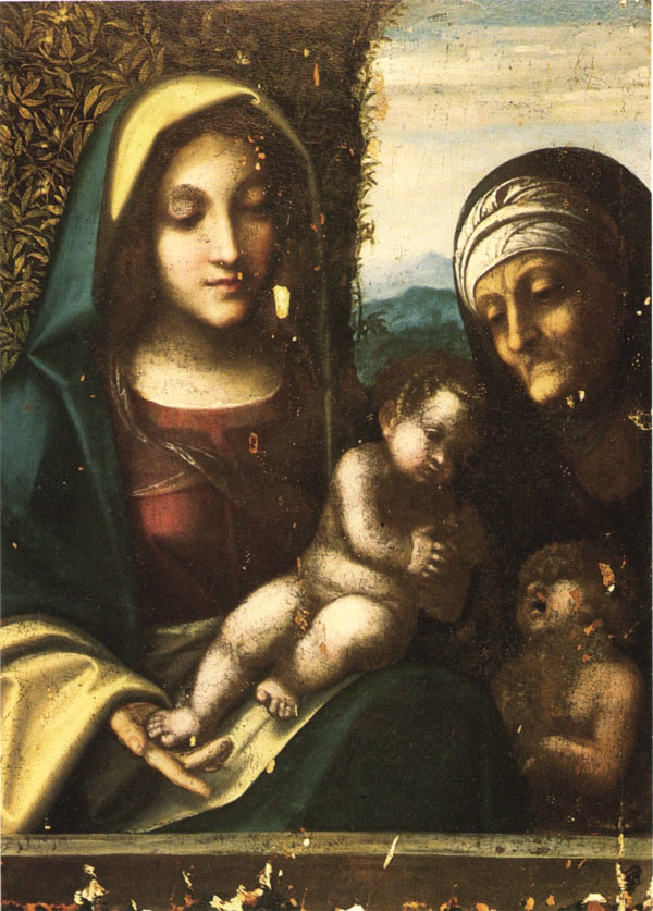 Virgin and Child, with Saint Elizabeth and the Young Saint John the Baptist