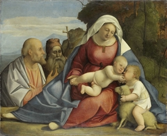 Virgin and Child with young John the Baptist, Saints Peter and Antony Abbot