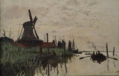 Windmill and Boats near Zaandam