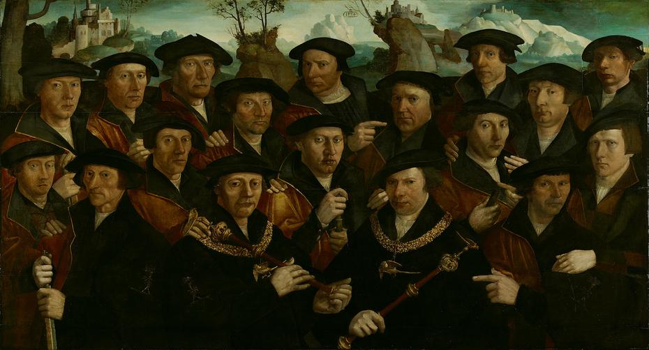 21 militiamen of the St. Joris guards