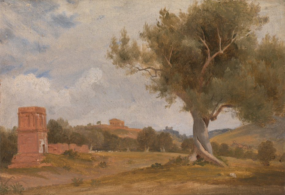 A View at Girgenti in Sicily with the Temple of Concord and Juno