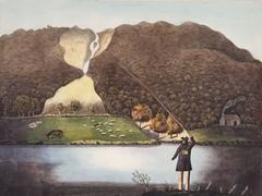 A Waterfall by the Rhydol