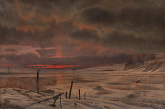 A Winter's Evening by a Danish Fiord