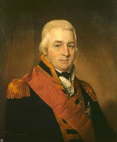 Admiral Sir Alexander Inglis Cochrane, 1758 - 1832. Governor of Guadeloupe