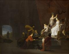 Allegori på freden. Pax krones af Minerva