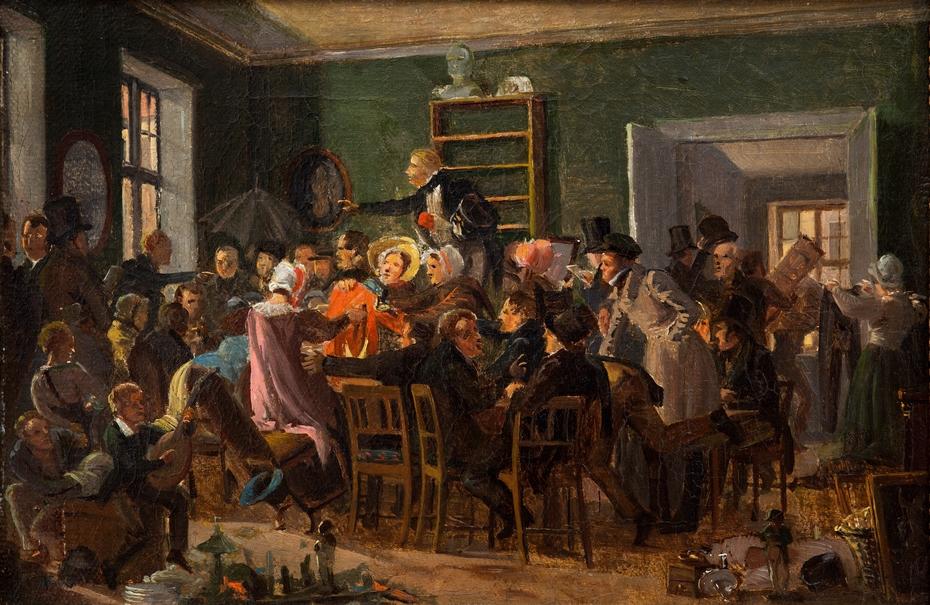 An Auction Scene (Study)