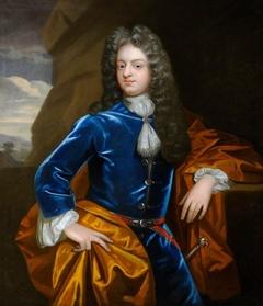 An Unknown Gentleman in Blue with an Orange Mantle