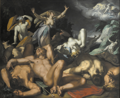 Apollo and Diana Punishing Niobe by Killing her Children