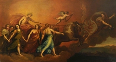 Apollo in his Chariot preceded by Aurora (after Reni)
