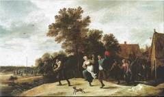 Bagpiper with Dancers