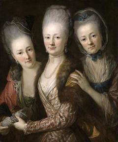 Bildnis der drei Töchter von Julius Johann von Vieth und Golssenau