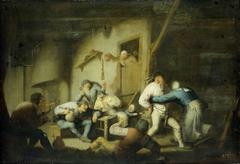 Boisterous Peasants at an Inn