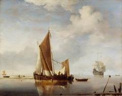 Calm: A Fishing Boat at Anchor