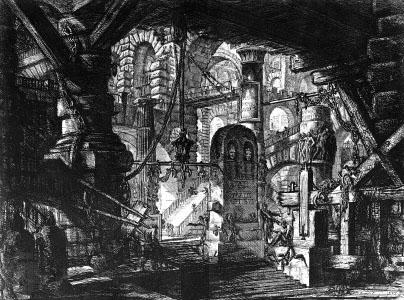"""""""Carceri d'invenzione""""  The Pier with Chains, Pl. XVI"""