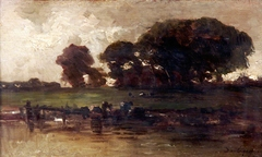 Cattle at a Stream, Evening
