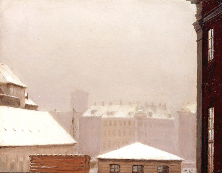 Copenhagen:  Roofs Under the Snow