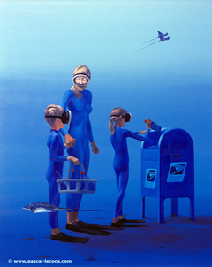 COURRIER BY SEA MAIL - by Pascal