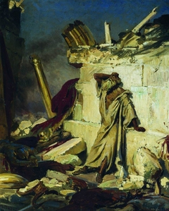 Cry of prophet Jeremiah on the Ruins of Jerusalem