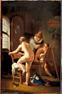 De schilder en zijn model