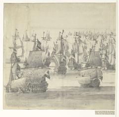 De Vierdaagse Zeeslag (linkerblad), 1666