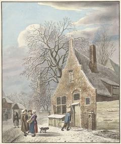 Dorp onder sneeuw